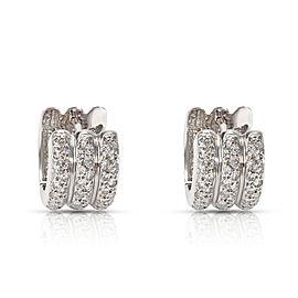 Diamond Huggie Earrings in 18K White Gold (3/4 CTW)