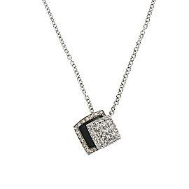 Zydo Topaz & Diamond Pendant in 18K White Gold (0.98 CTW)