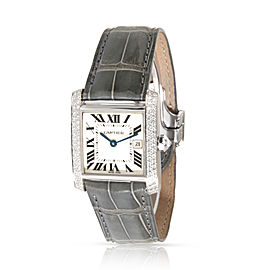 Cartier Tank Francaise WE101751 Women's Watch in 18kt White Gold