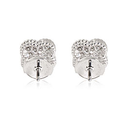 Van Cleef & Arpels Mini Alhambra Diamond Stud Earring in 18K White Gold 0.25 CTW