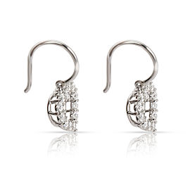 Tiffany & Co. Heart Dangle Diamond Earrings in Platinum 0.72 CTW