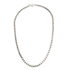 Tiffany & Co. Venetian Box Chain Necklace in Sterling Silver 4mm