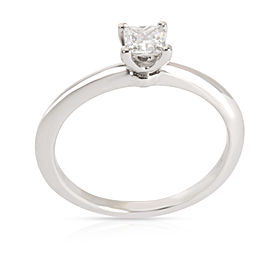 Tiffany & Co. Solitaire Diamond Engagement Ring in Platinum E VVS1 0.32 CTW