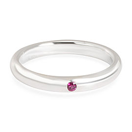 Tiffany & Co. Elsa Peretti Stackable Ruby Band in Sterling Silver