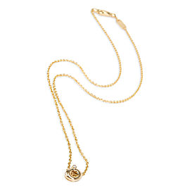 DeBeers Single Mini Rainfall Diamond Necklace in 18K Yellow Gold 0.01 CTW