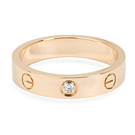 Cartier Love Wedding Band 1 Diamond in 18K Rose Gold 0.03 CTW