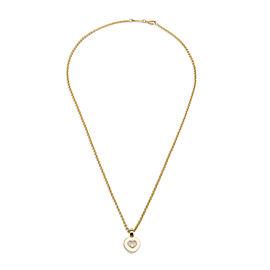 Chopard Happy Heart Diamond Pendant in 18K Yellow Gold 0.05 CTW