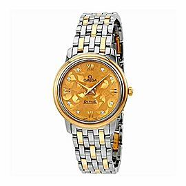 Omega De Ville Prestige Butterfly Champagne Diamond Dial Ladies Watch 424.20.27.