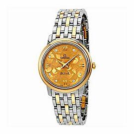 Omega De Ville Prestige Butterfly Champagne Diamond Dial Ladies Watch 424.20.27.