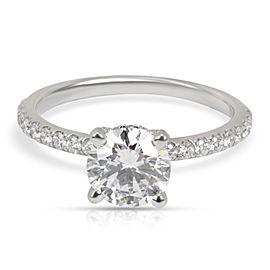 GIA Certified James Allen Diamond Engagement Ring in Platinum E VVS2 1.37 CTW