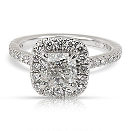 GIA Certified Cushion Diamond Engagement Ring in 18K White Gold H VS2 1.50 CTW