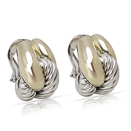 David Yurman Infinity Knot Earrings in 14KT Yellow Gold & Sterling Silver