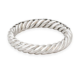David Yurman Petite Pave Diamond Band in Sterling Silver 0.46 CTW