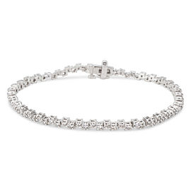 OffSet Diamond Tennis Bracelet in 14K White Gold (2.40 CTW)