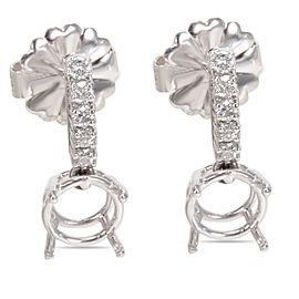 Diamond Semi-Mount Drop Earrings in 14K White Gold (0.30 CTW)
