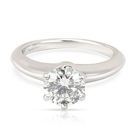 Tiffany & Co. Diamond Engagement Ring in Platinum F VS1 0.94 CTW