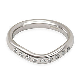 Tiffany & Co. Elsa Peretti Diamond Band in Platinum 0.06 CTW