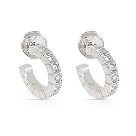 Cartier Lanieres Hoop Earring in 18K White Gold 1 CTW