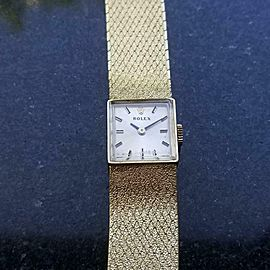 Rolex Ladies 14kt Gold Cocktail Dress Watch, c.1960s Swiss Vintage Luxury MA156