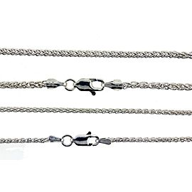 Wheat chain in 925 sterling silver made in Italy select gage and length