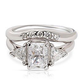 IGI Certified Diamond Engagement Ring in Platinum/White Gold F-G SI2-I11.6 CTW
