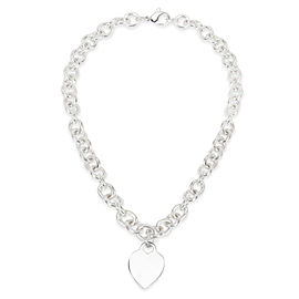 Tiffany & Co. Heart Tag Charm Necklace in Sterling Silver