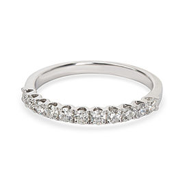 U Prong Diamond Wedding Band in 18K White Gold 0.33 CTW