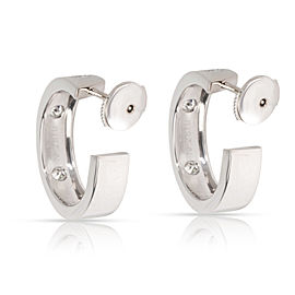 Cartier Love Diamond Hoop Earring in 18K White Gold 0.6 CTW