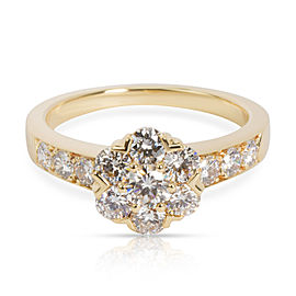 Van Cleef & Arpels Flora Diamond Ring in 18K Yellow Gold 0.74 CTW