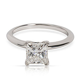 Tiffany & Co. Solitaire Diamond Engagement Ring in Platinum H VS1 1.55 CTW