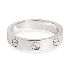 Cartier Love Diamond Wedding Band in 18K White Gold 0.02 CTW