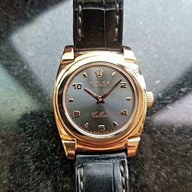 ROLEX 18K Rose Gold Ladies Cellini Cestello ref. 5310 c.1999 Swiss Luxury LV567