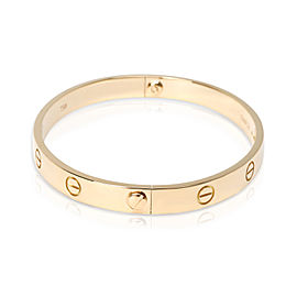 Vintage Cartier Love Bracelet in 18K Yellow Gold Size 18