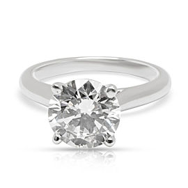 Cartier Solitaire Diamond Engagement Ring in Platinum 2.01 H VS1 CTW