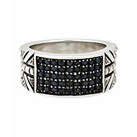 Stephen Webster Alchemy in UK Men's blue sapphire ring in silver size 10
