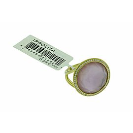 Ippolita 18k Rock & Candy Lollipop ring Diamond, Amethyst & Mother of pearl doub
