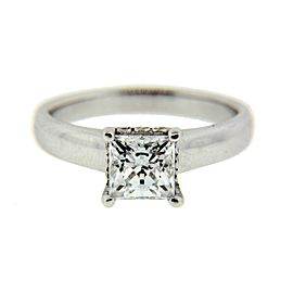 Ritani diamond engagement ring in 18k white gold new fits 1.25ct