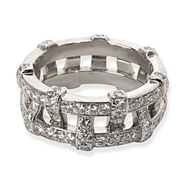 Tiffany & Co. Diamond Woven Double Eternity Bands, in Platinum (2/1 CTW)
