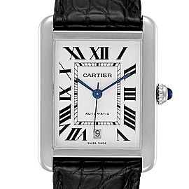 Cartier Tank Solo XL Automatic Date Stainless Steel Mens Watch W5200027