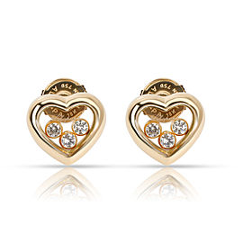 Chopard Happy Hearts Diamond Earring in 18K Yellow Gold 0.18 CTW