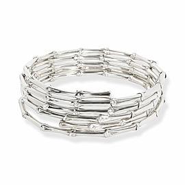 John Hardy Bamboo 5 Coil Bracelet in Sterling Silver