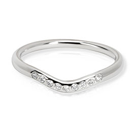 Tiffany & Co. Elsa Peretti Curved Diamond Ring in Platinum 0.04 CTW