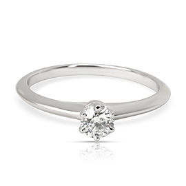 Tiffany & Co. Classic Diamond Solitaire Ring in Platinum H VS 0.23 CTW
