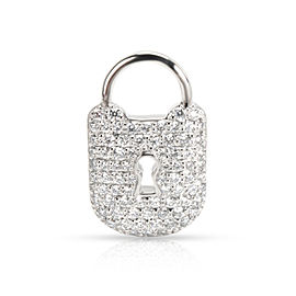 Tiffany & Co. Diamond Padlock Charm in Platinum