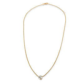 GIA Certified Diamond Solitaire Pendant in 18K Yellow Gold G VS2 1.20 CTW