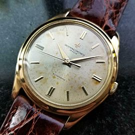 VACHERON CONSTANTIN Men's 18k Solid Gold Geneve Dress Watch, c.1950s Swiss LV900