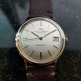 IWC Men's 18K White Gold cal.8541 Automatic w/Date, c.1960s Swiss Vintage LV956