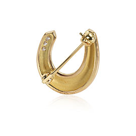 Tiffany & Co. Diamond Horseshoe Brooch in 18K Yellow Gold