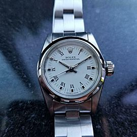 ROLEX Ladies Oyster Perpetual ref.67180 ss Automatic, c.1984 Swiss Luxury LV906