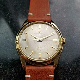 VACHERON CONSTANTIN 18k Solid Gold Men's Geneve Automatic c.1950s Swiss LV900TAN